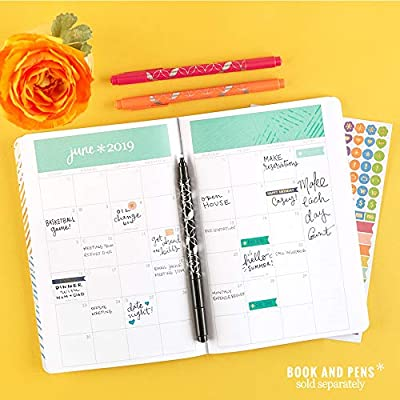 Erin Condren Designer Sticker Pack - Petite Planner Do It All Sticker Pack Duo with 2 Designer Sticker Sheets. Decorative and Cute Stickers for Customizing Planners, Notebooks, and More: Office Products