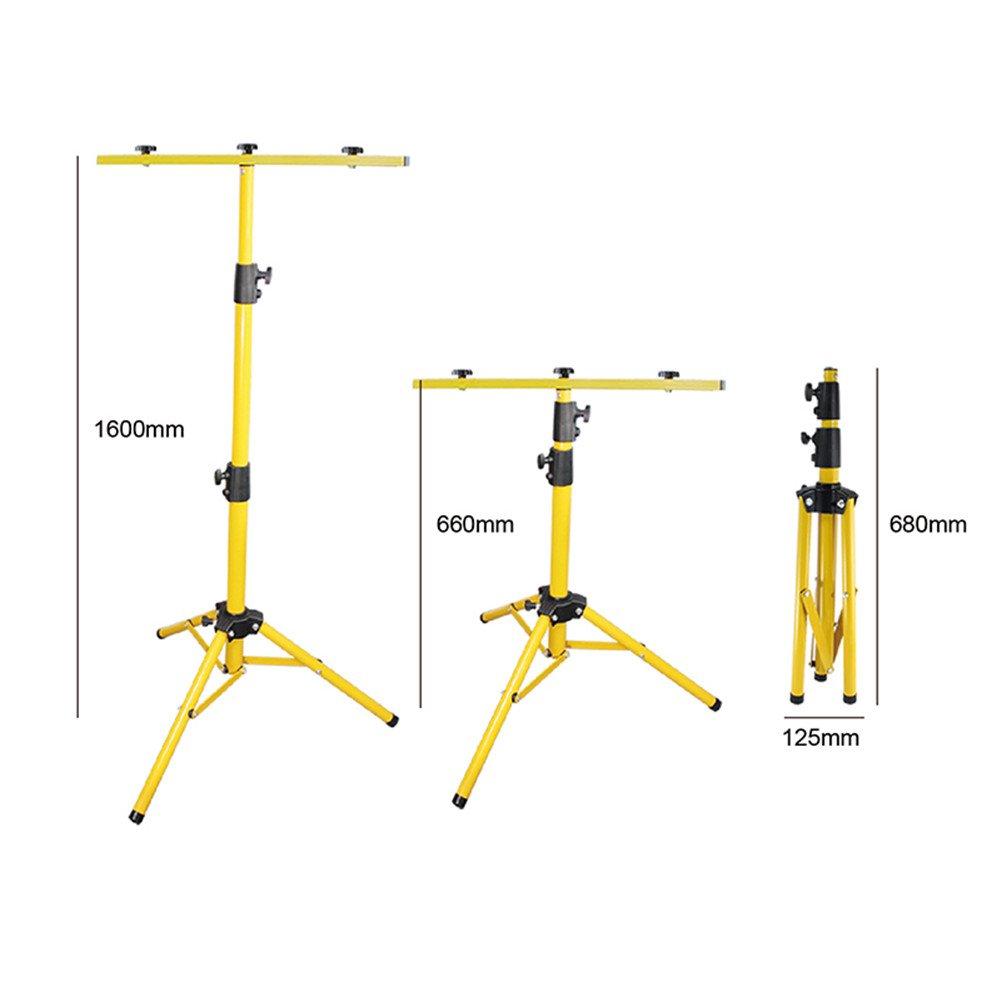 GDEAST Portable Metal Telescoping Tripod Adjustable Tripod Stand for 10W 20W 30W 50W LED Flood Light Camp Work Emergency Lamp