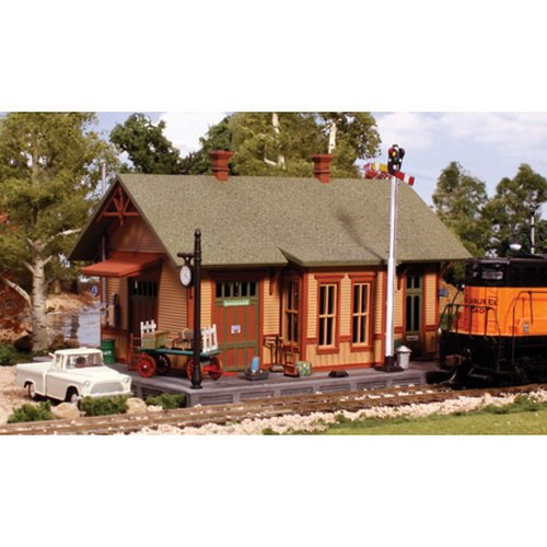Pre-Fab Building Woodland Station HO Woodland Scenics, grey, 8