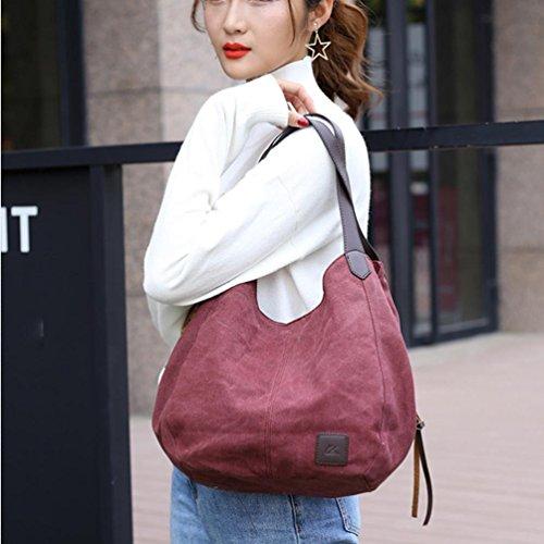 Bags Purple Vintage Canvas BagsWomen's Shopping Shoulder Single Handbags Hobos Female 8O1znx