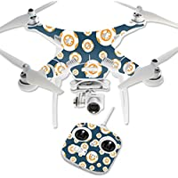 MightySkins Protective Vinyl Skin Decal for DJI Phantom 3 Standard Quadcopter Drone wrap cover sticker skins Mini Galaxy Bots