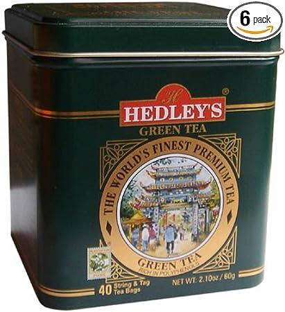 Amazon Com Hedley S Tea S Pure Ceylon Green Tea 40 Count
