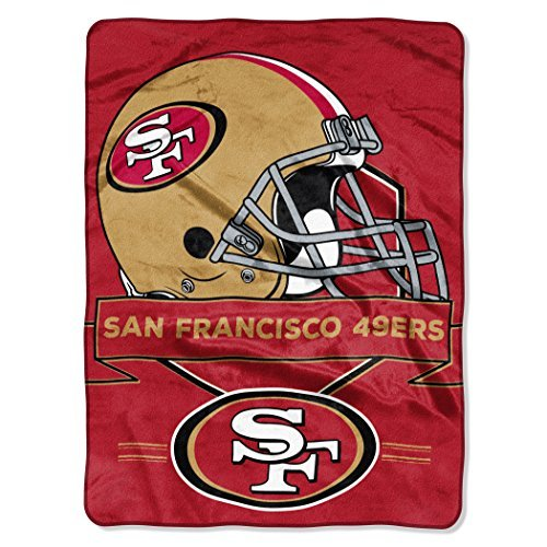 - Northwest 0807 NFL San Francisco 49ers Prestige Plush Raschel Blanket, 60