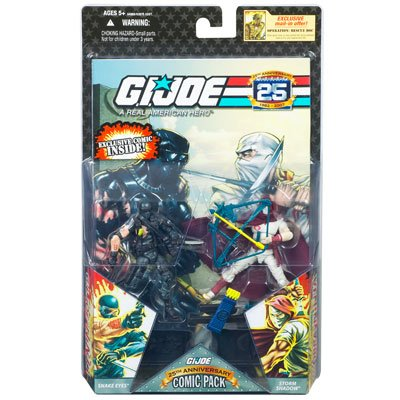G.I. JOE 25th Anniversary Comic 2-Packs: SNAKE EYES and STORM SHADOW ()
