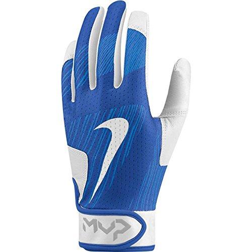 Nike Kid's Youth MVP Edge Baseball Batting Glove, Light Photo Blue (435) / White/Game Royal, Large