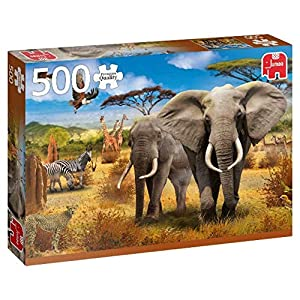 Premium Collection 18802 African Savannah Puzzle Da 500 Pezzi Multicolore
