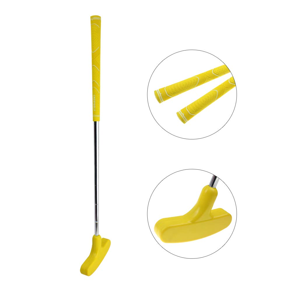CRESTGOLF Junior Rubber Golf Putter -24 inches,Double Way, Suitable for Both Right Handed&Left Handed