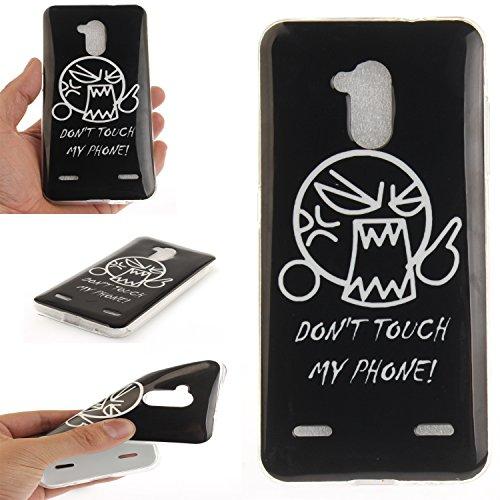 Qiaogle Teléfono Caso - Funda de TPU silicona Carcasa Case Cover para Meizu Meilan Note 5 / M5 Note (5.5 Pulgadas) - TX36 / Retro flor TX39 / Dont Touch My Phone