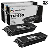 brother 1440 - LD Compatible Toner Cartridge Replacement for Brother TN460 High Yield (Black, 2-Pack)