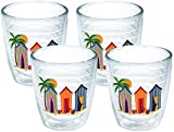 Tervis 1001388 Cabanas Tumbler with Emblem 4 Pack 12oz, Clear