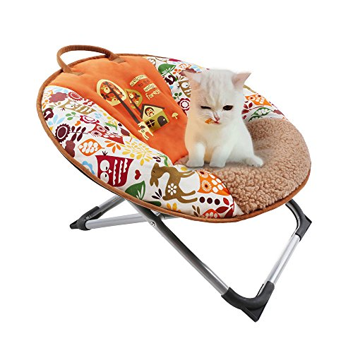 Decdeal Pets Mini Moon Chair Soft Durable Canvas Puppy Round Seat 22 10 16in by Decdeal