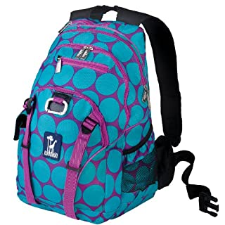 Wildkin Serious Backpack, Durable Backpack with Padded Straps, Exterior Pockets, Moisture-Resistant Lining, and Two Side Pockets, Perfect for School or Travel - Big Dots Aqua (B007WU45ZW) | Amazon price tracker / tracking, Amazon price history charts, Amazon price watches, Amazon price drop alerts