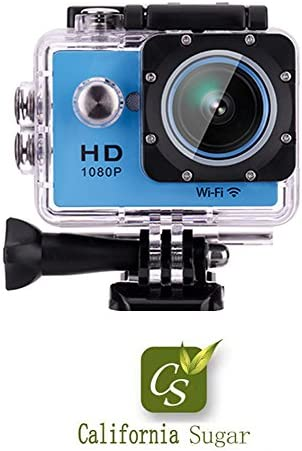 California Sugar Wide Angle WIFI HD 1080P Sports Camera , waterproof shockproof Cam Dv Camcorder Outdoor with Accessorries Kit