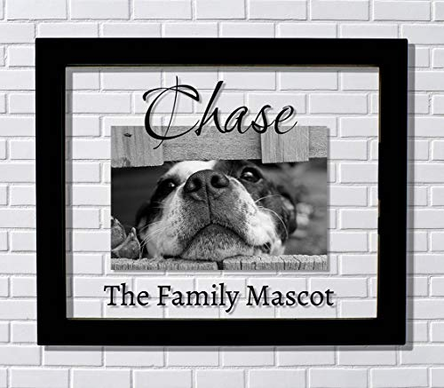 The Family Mascot - Custom Pet Picture Frame - Personalized Name - Animal Dog Cat Hamster Fish Bird Snake Turtle Reptile