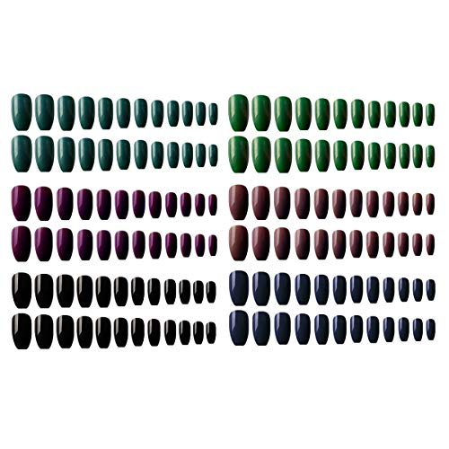 Matte False Gel Nails Art Tips Sets