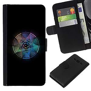 LECELL--Cuero de la tarjeta la carpeta del tirón Smartphone Slots Protección Holder For Samsung Galaxy A3 -- Atrapasueños --