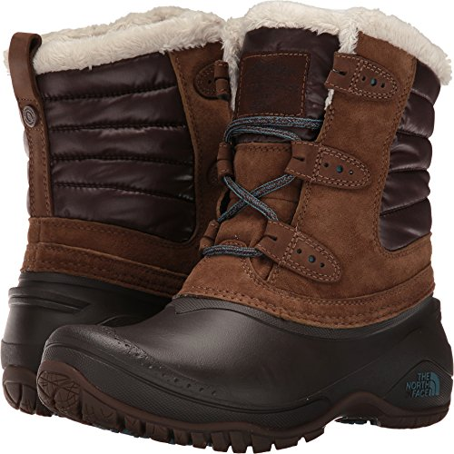 The North Face Shellista II Shorty Boot Women's Dark Earth Brown/Storm Blue 9 North Face Womens Boots
