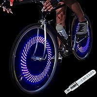 DAWAY A08 Bike Tire Valve Stem Light - LED Waterproof...
