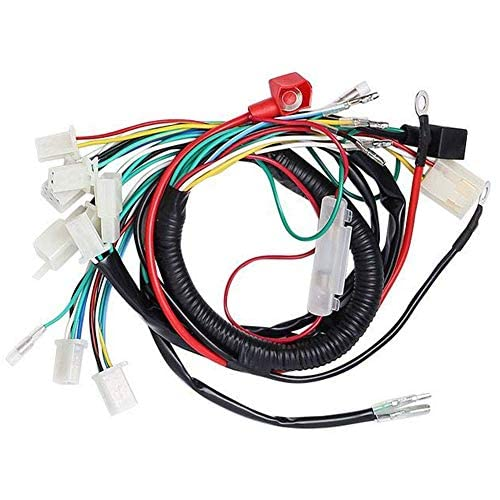 Complete Electrics Stator Coil Cdi Wiring Harness Solenoid Relay Spark Plug For 4 Stroke Atv 50cc 70cc 110cc 125cc Pit Quad Dirt Bike Go Kart By Topemai Parts Motorcycle Atv