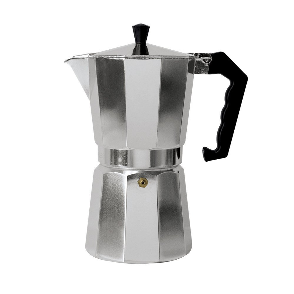 Classic 3-Cup Aluminum Stovetop Espresso Mocha Coffee Maker by Pride Of India