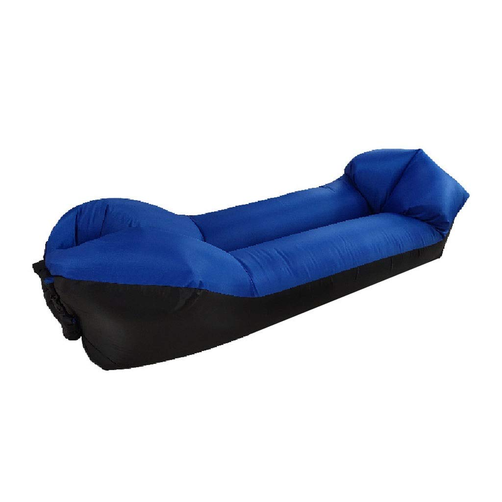 Inflatable Lounger Air Sofa Hammock - Portable Anti-Air Leaking & Waterproof Pouch Couch and Beach Chair Camping Accessories for Parties - Perfect Air Chair for Picnics or Festivals (Color : Blue) by Chenguojian