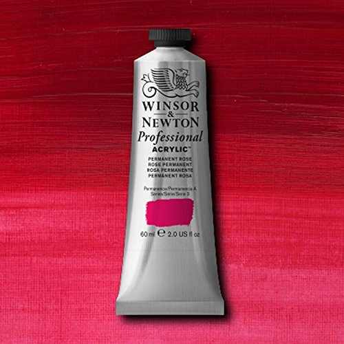 Winsor & Newton Professional Acrylic Color Paint, 200ml Tube, Permanent (200 Ml Rose)