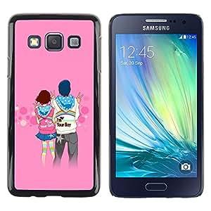 LECELL -- Funda protectora / Cubierta / Piel For Samsung Galaxy A3 SM-A300 -- Love Couple Cute --