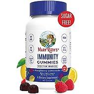 Immunity Gummies for Kids & Adults (5-in-1) by MaryRuth's - Organic Ingredients - Elderberry, Echinacea, Vitamin C, D & Zinc – Gummy Vegan Non-GMO Gluten-Free Raspberry Lemonade 90ct