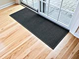 Hudson Exchange 4204 Waterhog Fashion Floor Mat Runner, 60'' L x 22'' W, 3/8'' Thick Charcoal