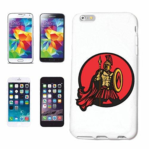 caja del teléfono iPhone 7S ROMANOS CON EL CASCO GUERRERO SAMURAI ESPADA DE COMBATE CHINA Caso duro de la cubierta Teléfono Cubiertas cubierta para el Apple iPhone en blanco