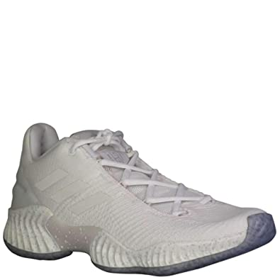 huge selection of 8f79d af0fe Amazon.com   adidas Men s SM Pro Bounce 2018 Low Iced Out Basketball White Grey  One White   Basketball
