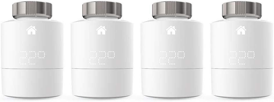 Tado° Cabezal Termostático Inteligente, Accesorio para control de habitaciones múltiples, Control de calefacción inteligente, Paquete de 4