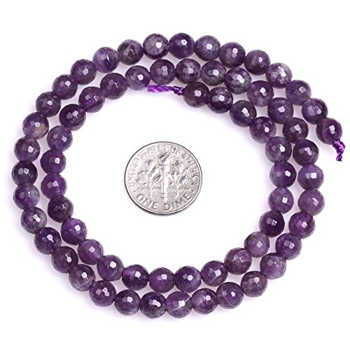 (Amethyst Beads for Jewelry Making Natural Gemstone Semi Precious 6mm Round Faceted Dreamlace Mixed Color Faceted 15