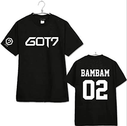 babyHealthy GOT7 Concert Same T-Shirt Mark Jackson Youngjae JB JR Bambam  Tee Shirt