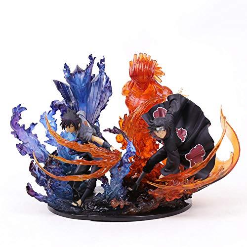 MNZBZ Naruto Uchiha Itachi Sasuke Susanoo Kizuna Relacion PVC Figura de coleccion Modelo de juguete-2pcs / Set