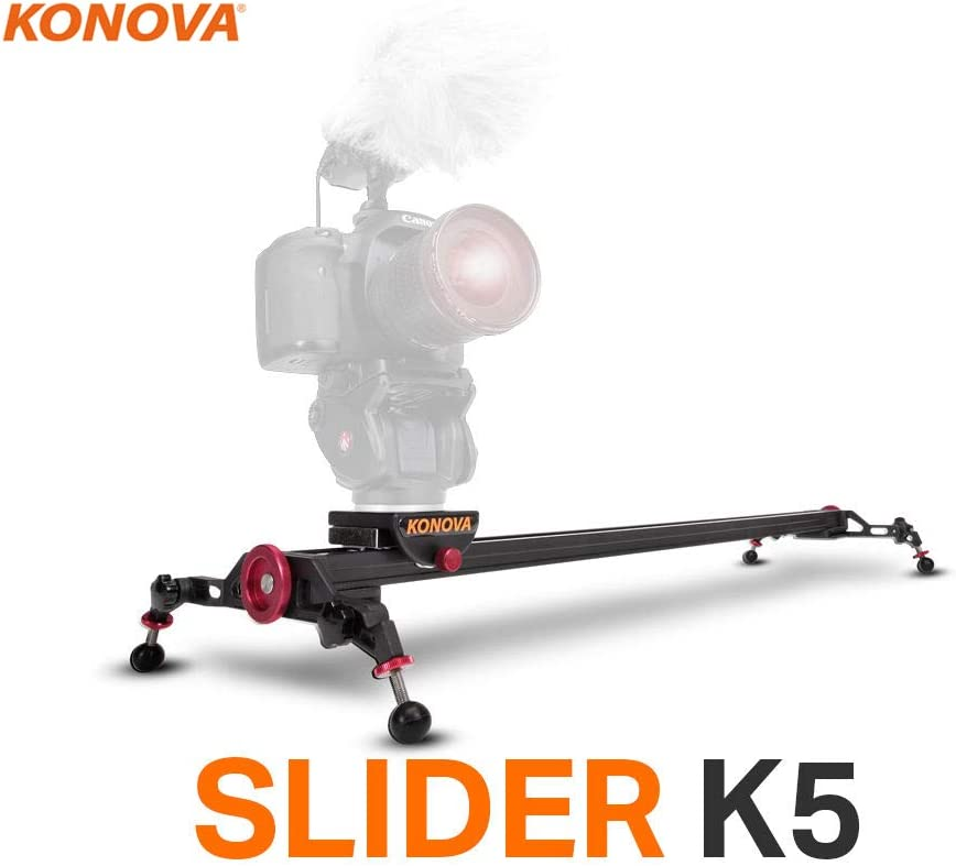 Konova Slider K5 120 (47.2 inch) Track Aluminum Solid Rail Roller Bearing for Smooth Slide for Camera, Gopro, Mobile Phone, DSLR, Payloads up to 55bs (25kg) with Bag