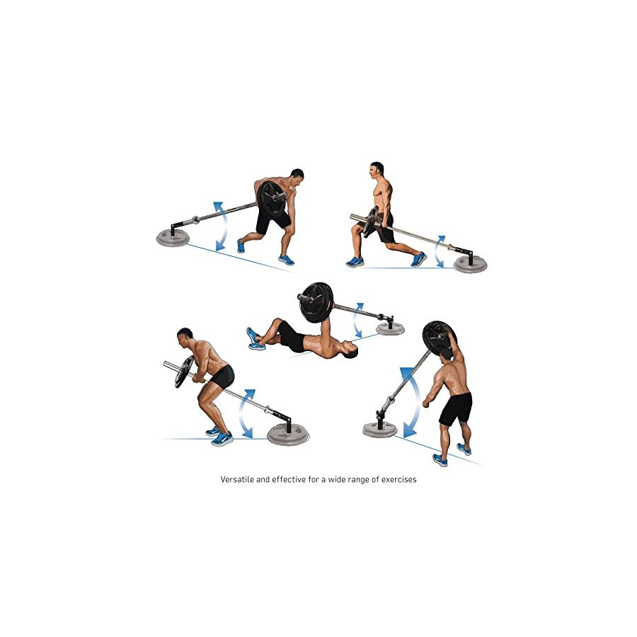 """Ivation T Bar Row Plate Post Insert Landmine – Multipurpose 360° Swivel Action Pivot Bar for Standard 2"""" Weight Plates & Olympic Bars – Great for Back, Arm & Core Exercises at Home or Gym"""