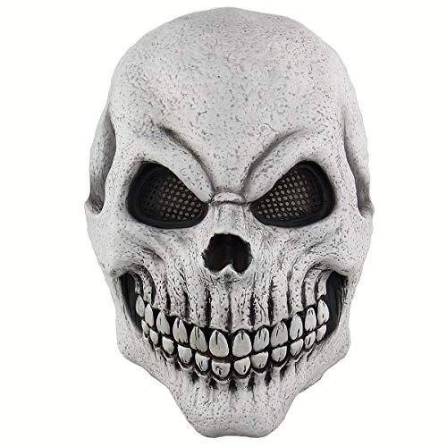 Polymer Halloween Skeleton Mask Cosplay Mask Horrific Mask Creepy Terrifying Knight Halloween Cosplay Costume Accessories ()