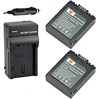 DSTE 2x CGR-S002 CGR-S002E Battery + DC62 Travel and Car Charger Adapter for Panasonic Lumix DMC-FZ1 FZ2 FZ3 FZ4 FZ5 FZ10 FZ15 FZ20 Camera as CGA-S002 DMW-BM7