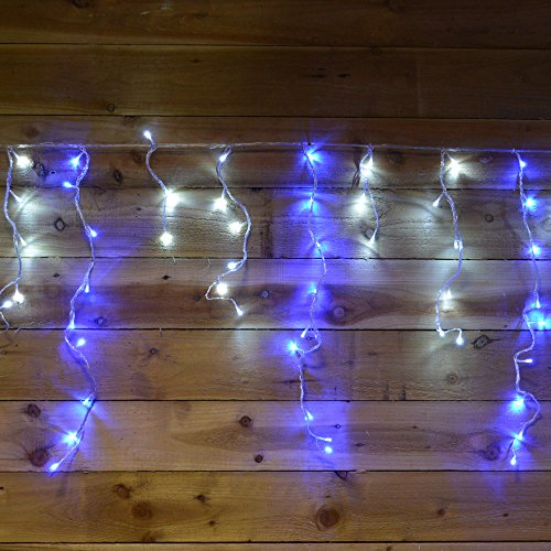 180 Blue Led Snowing Icicle Lights