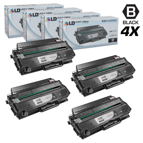 LD Compatible Toner Cartridge Replacement for Dell 331-7328 DRYXV (Black, 4-Pack)