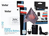 2 Pack Vivitar NB-6L / NB-6LH Ultra High Capacity Rechargeable 1700mAh Li-ion Batteries + AC/DC Vivitar Rapid Travel Charger + Microfiber Lens Cleaning Cloth for CANON (NB-6L / NB-6LH Replacement)