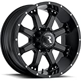 Raceline Assault 16 Black Wheel / Rim 8x6.5 with a 0mm Offset and a 125.2 Hub Bore. Partnumber 991B-68080-00