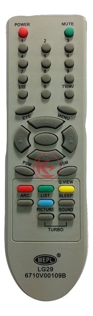 MEPL Compatible LG Tv 6710V00109B Remote..