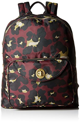 Baggallini Brussels Laptop Scrlt Cheetah Backpack, Scarlet Cheetah, One Size by Baggallini