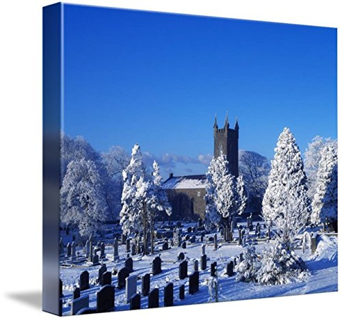 Wall Art Print entitled Bushmills Church And Cemetery In Win