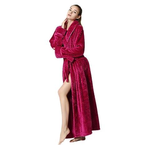 Pijamas Vestido, Bata de Mujer con cinturón, Bata de baño de Damas de Franela