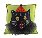 Bethany Lowe Sassy Cat Gothic Decorative Throw Pillow