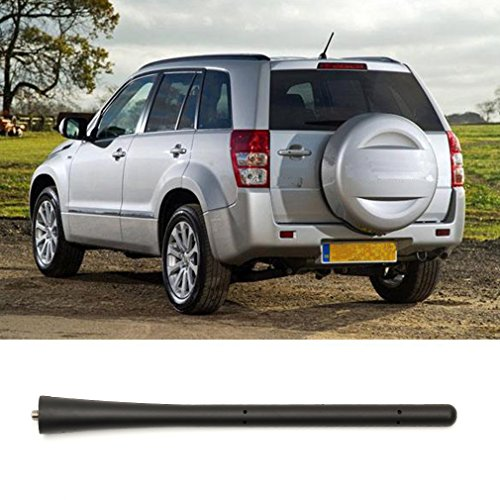(7 inch Motor Black Antenna Aerial Rubber Roof Base Mast For Mitsubishi Lancer Outlander)