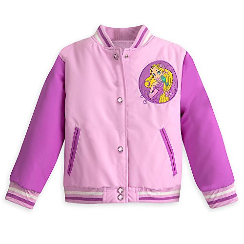 Disney Rapunzel Varsity Jacket for Girls - Tangled - Size 5/6 Purple (Disney Varsity Jacket)